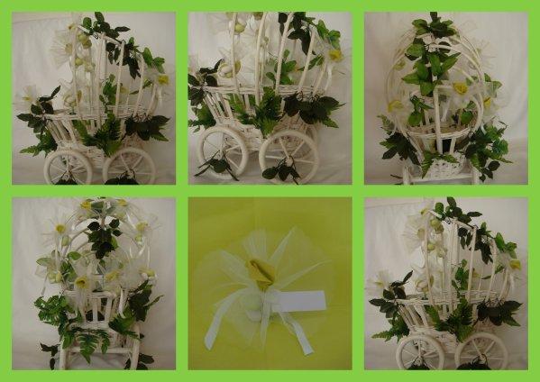 modele de berceau naissance bapteme ou communion theme printemps contient 100 a 130 pieces. Black Bedroom Furniture Sets. Home Design Ideas